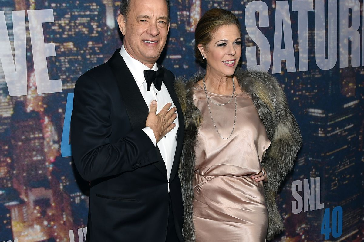Actor Tom Hanks (L) and Rita Wilson in New York City. Wilson just made her struggle with breast cancer public.