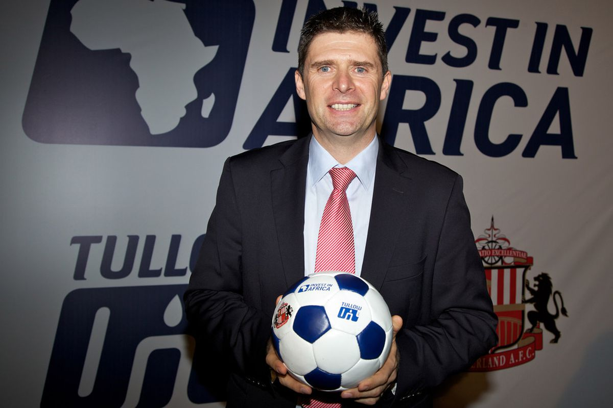 ACCRA, GHANA - JANUARY 24:  Niall Quinn Director of International Development Sunderland AFC attends the launch of 'Invest in Africa' on January 24, 2012 in Accra, Ghana. (Photo by Neil Thomas /Getty Images)