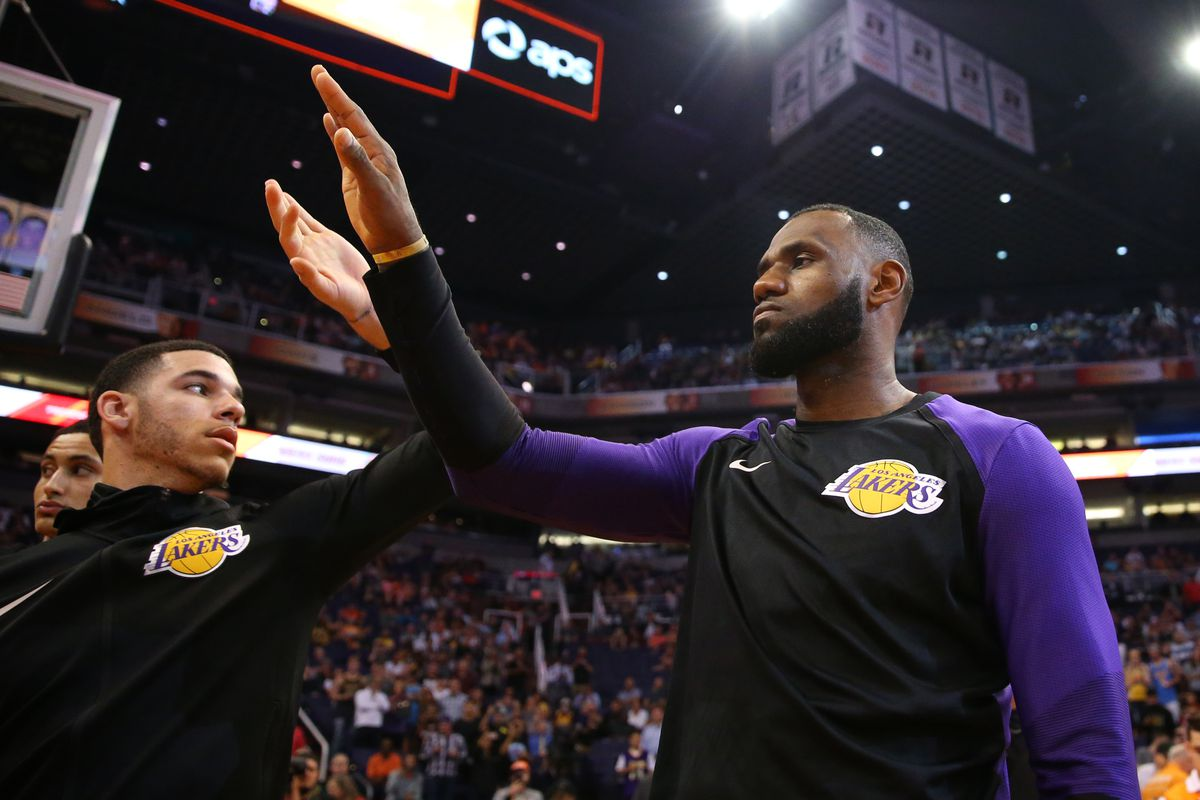 ad6b3df9440 Luke Walton thinks LeBron James and Lonzo Ball have played  great together   for Lakers