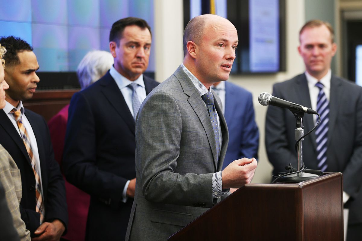 Lt. Gov. Spencer Cox provides an update on the successes, challenges and current activities of Operation Rio Grande, which began six months ago, during a press conference at the Capitol in Salt Lake City on Monday, Feb. 5, 2018.