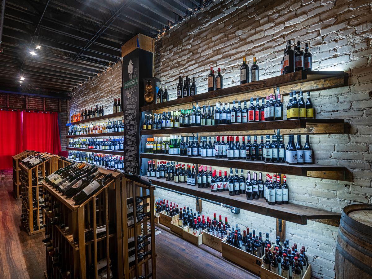 Wine shelves at St. Vincent
