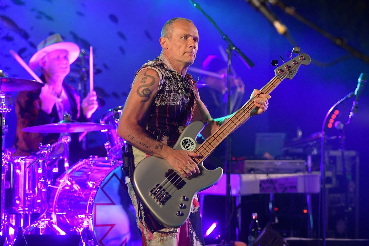New author Flea performing with The Red Hot Chili Peppers Oct. 12 in Hollywood,