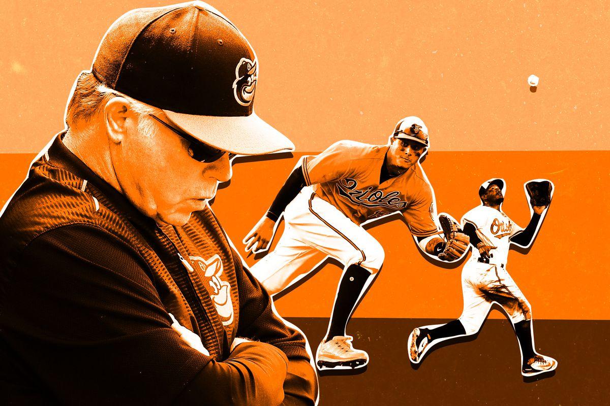 Buck Showalter, Manny Machado, and Adam Jones