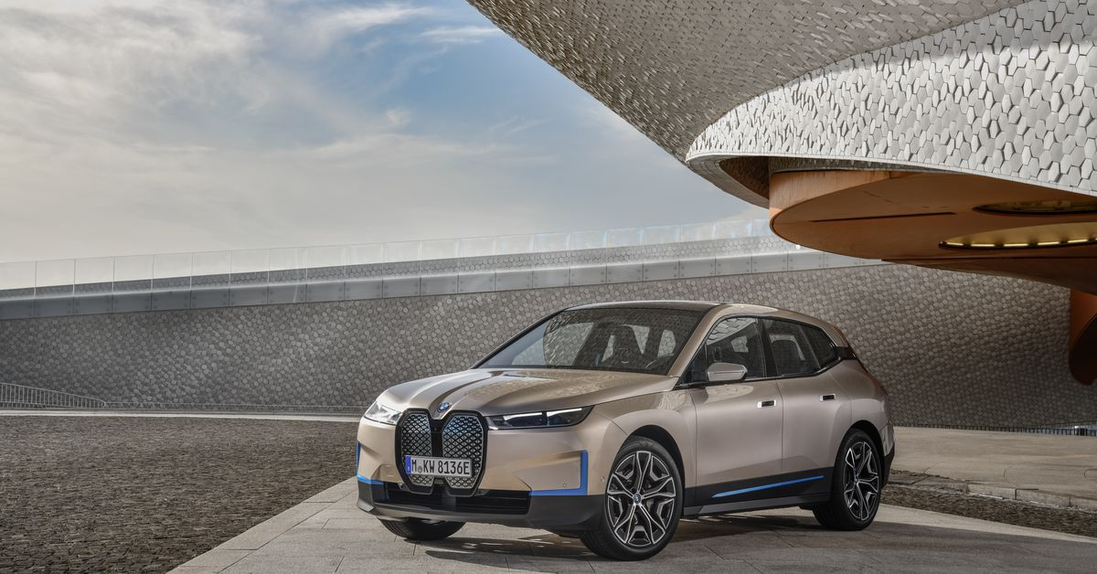 BMW launches its new flagship iX electric SUV with 300 miles of range