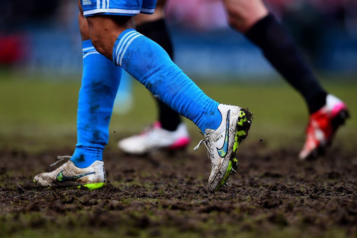 Now there's a quality pitch! Bradford's mud bog: One of Arsenal's potential destinations