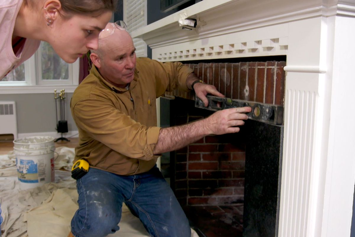 How To Tile Over A Brick Fireplace This Old House