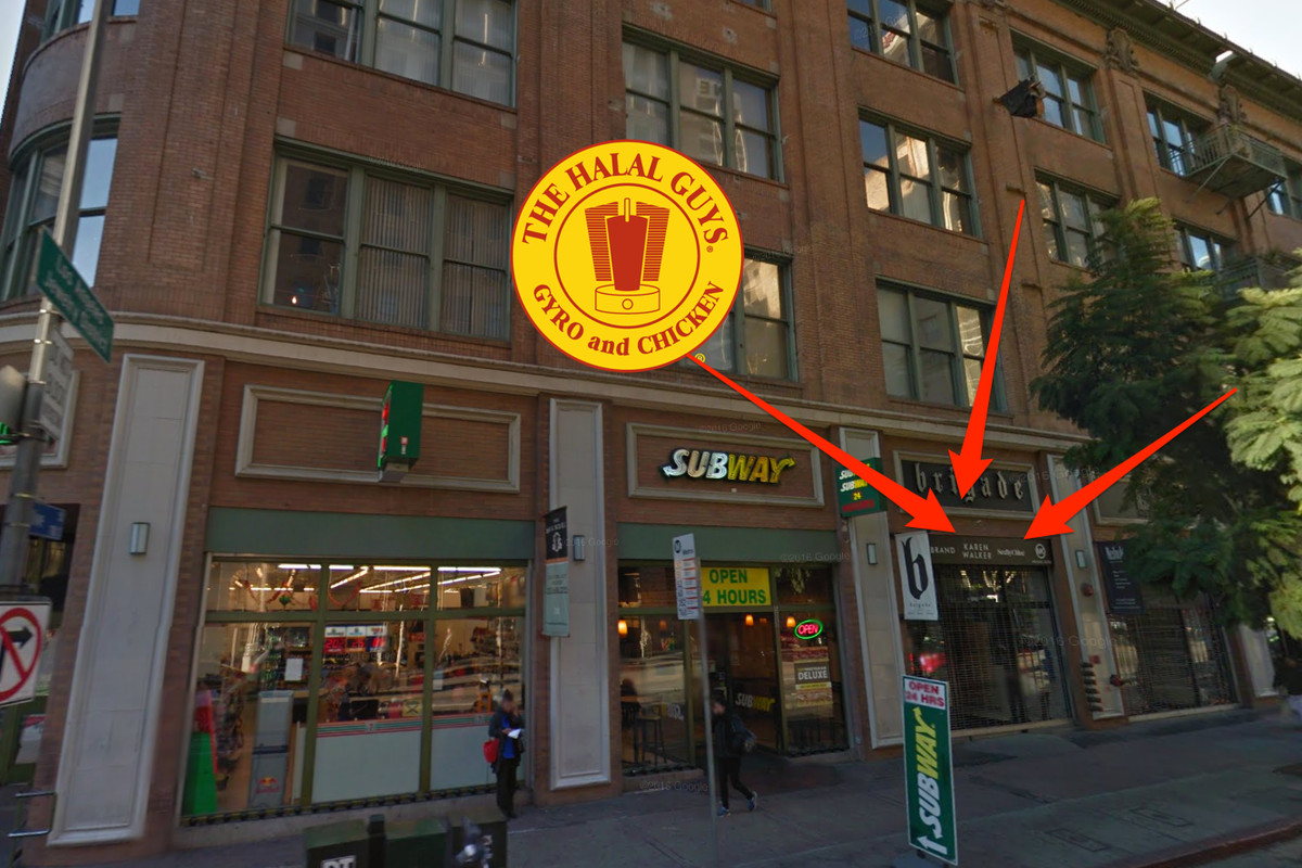 The Halal Guys location in Downtown