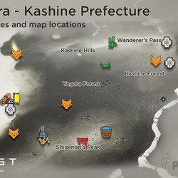 Izuhara region map locations and collectibles