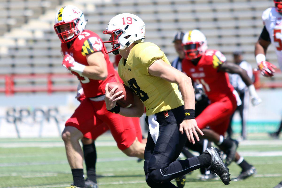 Maryland football Tyler DeSue spring game