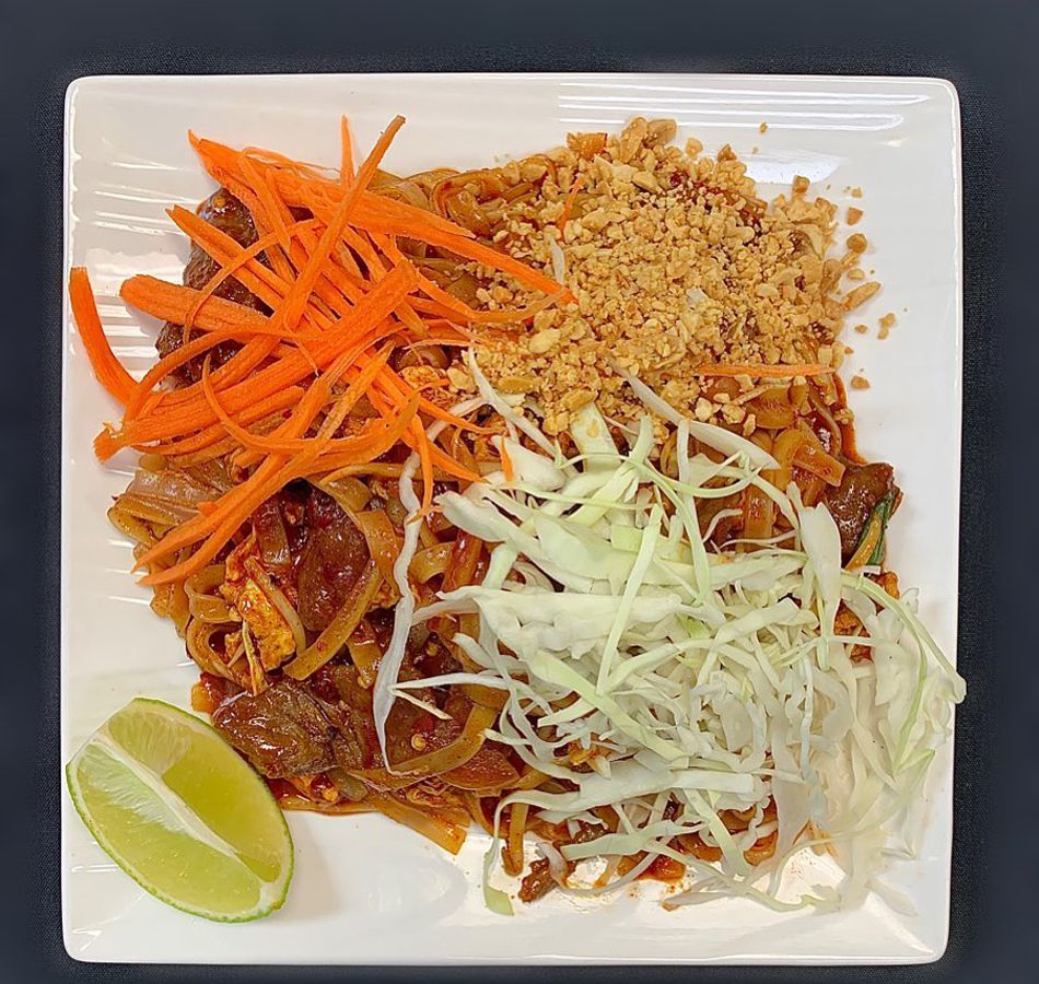 Pad Thai on the takeout and delivery menu at Little Dumpling Chinese & Thai Cuisine.