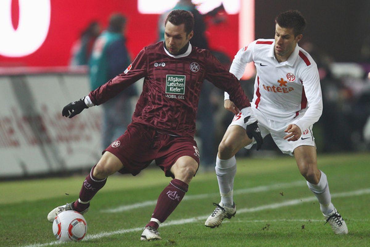 The Sounders are rumored to be interested in Kaiserslautern midfielder Christian Tiffert (left).