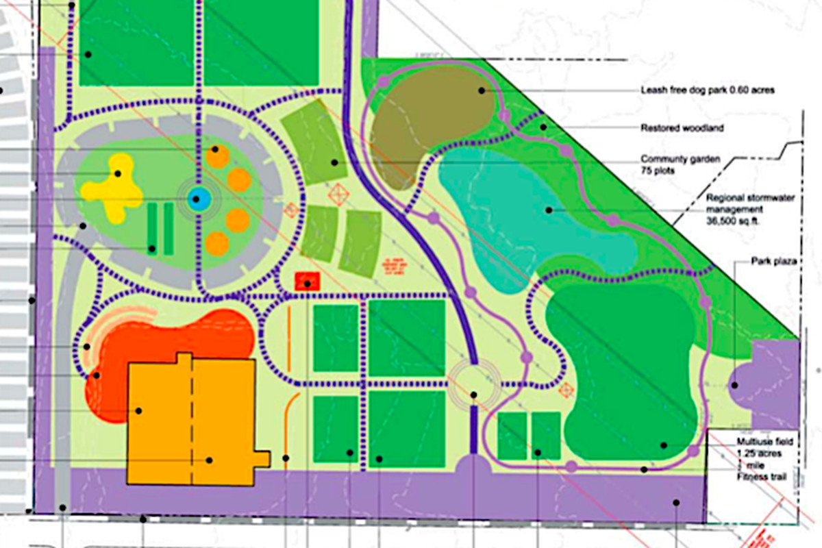 An early concept for a fully realized Boulevard Crossing Park from 2009.