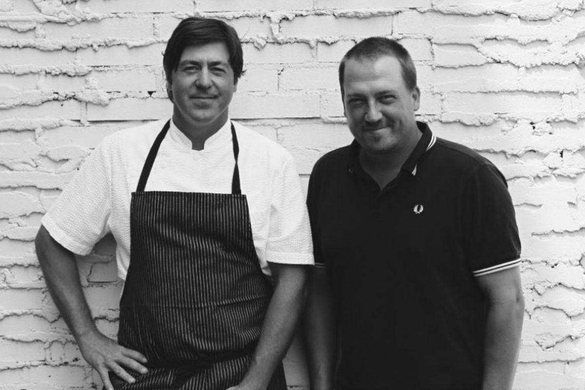 Lata, at left, with business partner Adam Nemirow