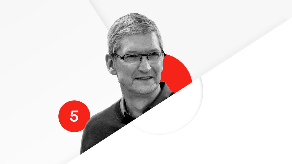 Apple's Tim Cook is No. 5 on the Recode 100.