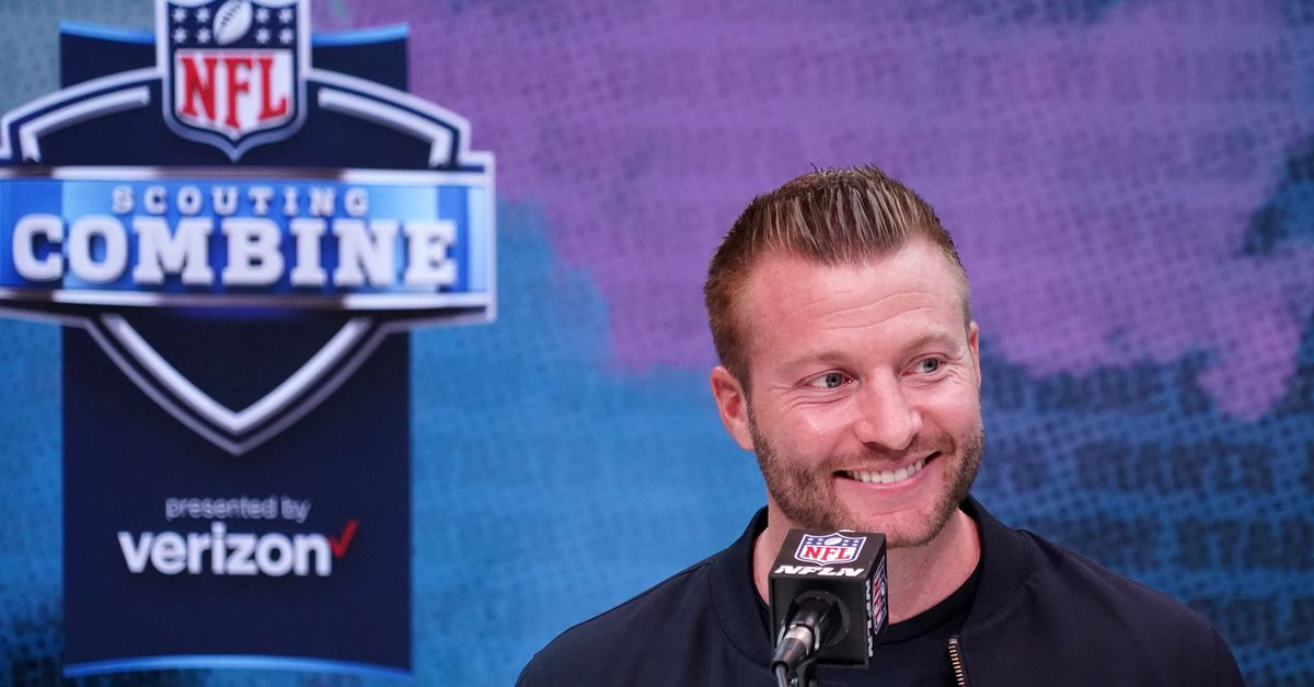 Sean McVay can't gather people at his home — or anywhere else — for the NFL draft