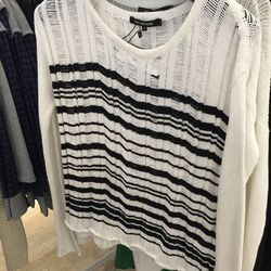 Drop stitch sweater, $110, originally $295