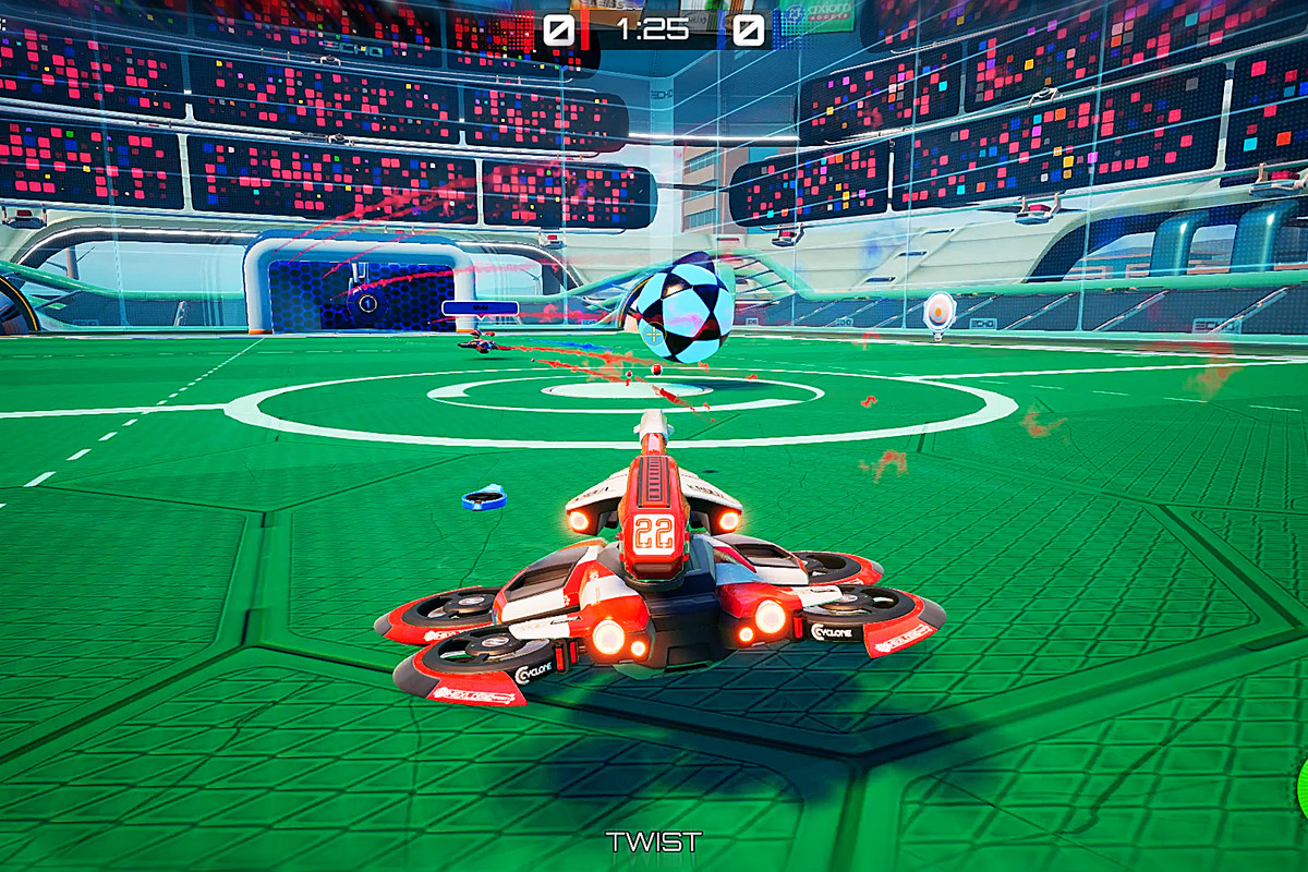 Axiom Soccer - a drone races for the ball