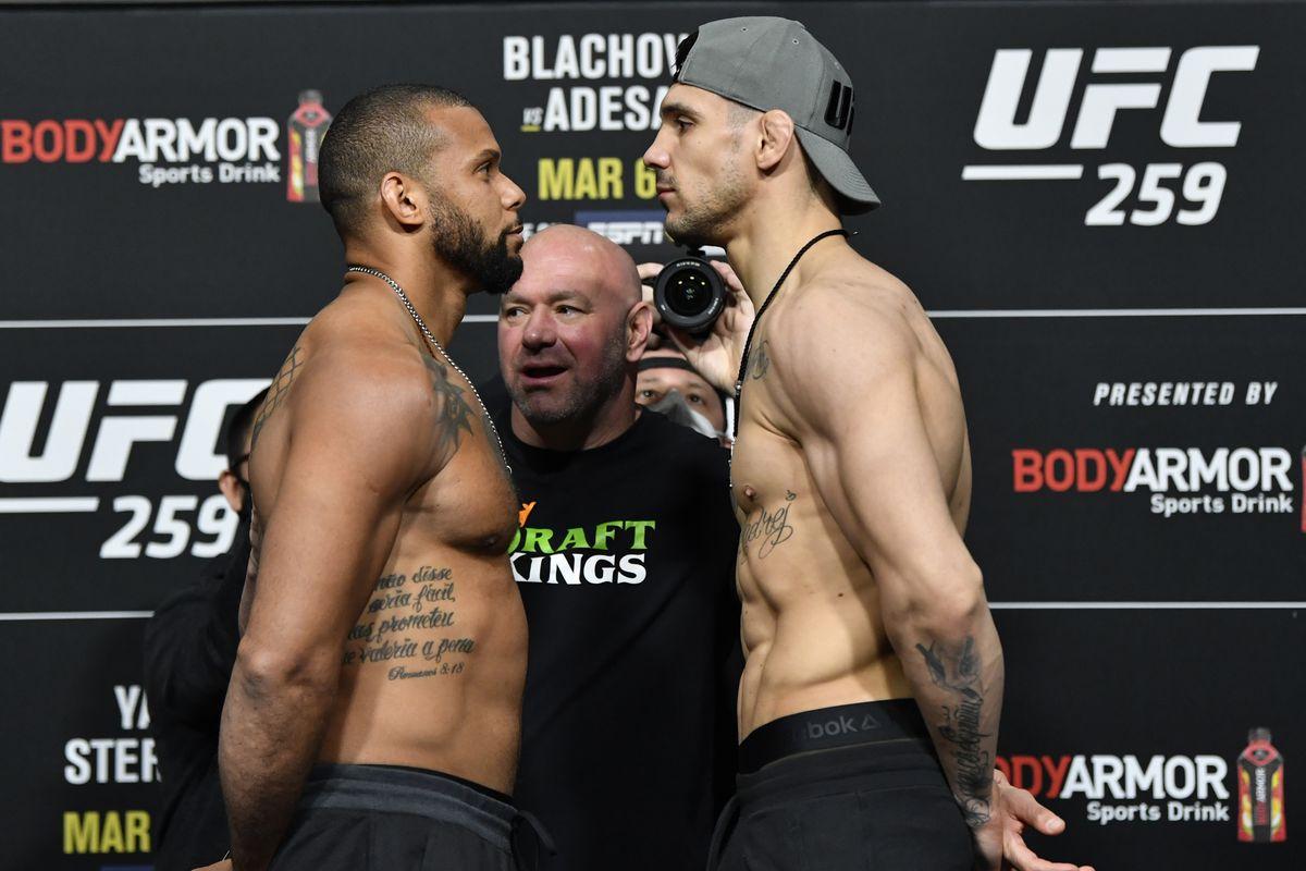 Thiago Santos and Aleksandar Rakic at UFC 259