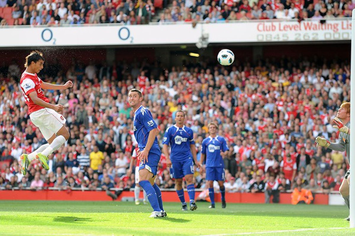 """via <a href=""""http://www.whoateallthepies.tv/wp-content/uploads/2010/12/PA-9443008.jpg"""">www.whoateallthepies.tv</a>  Marouane Chamakh heads home the go ahead goal against Bolton in September"""