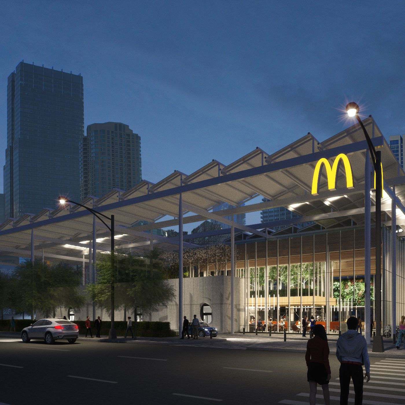 Giant Futuristic McDonald\'s With Lots of Trees to Open in Chicago ...