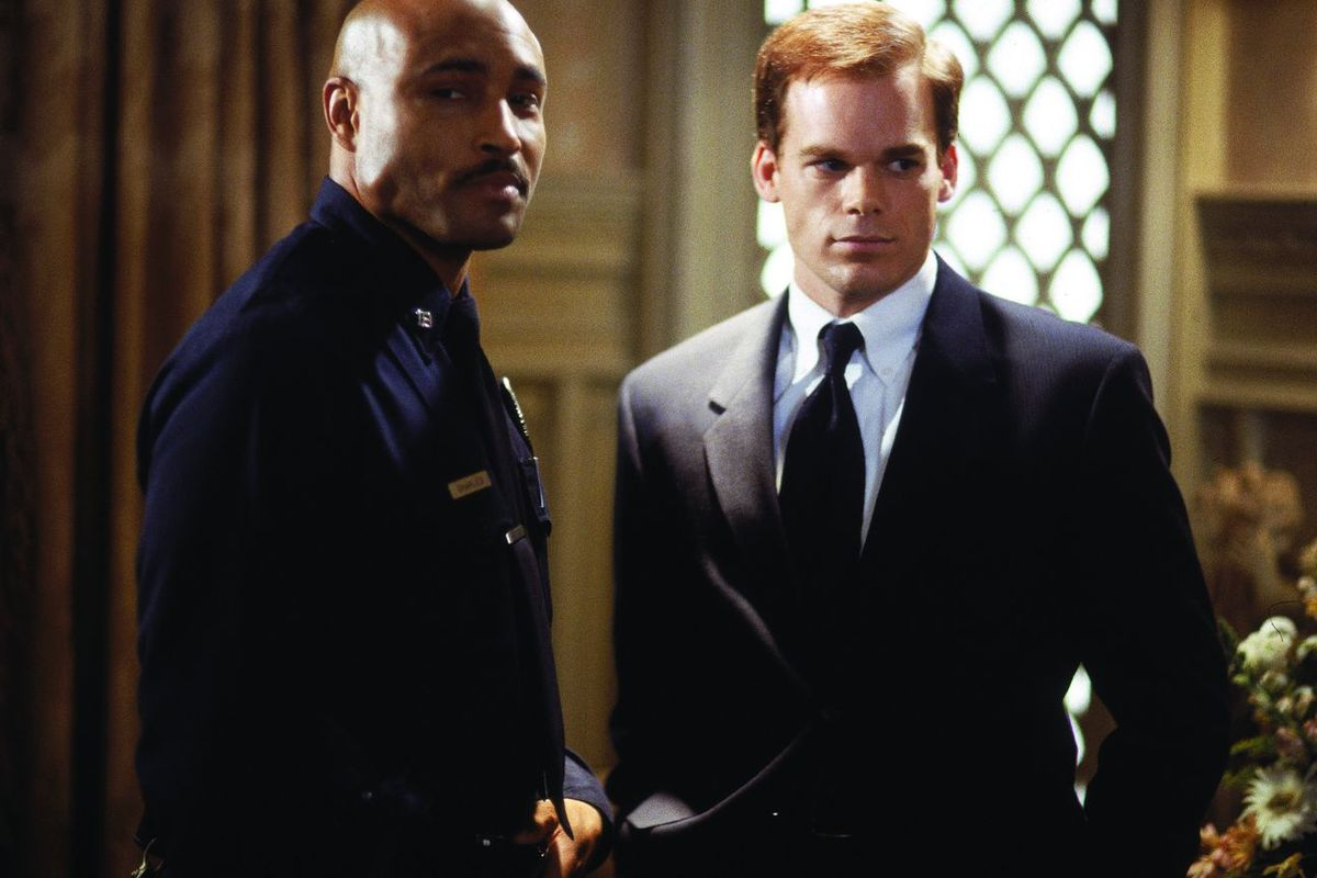 Keith (Mathew St. Patrick, left) and David (Michael C. Hall) of Six Feet Under are among TV's most significant gay characters of the past 20 years.