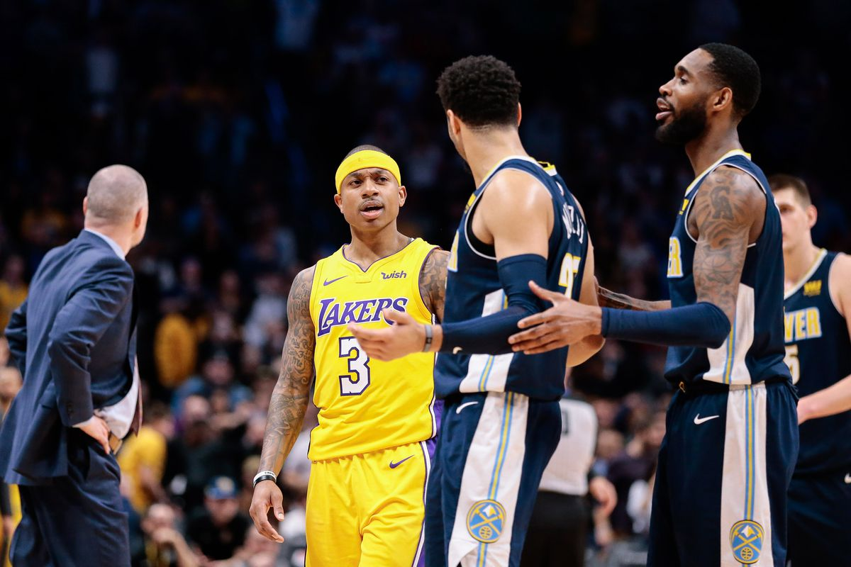 Isaiah Thomas catches fire in fourth as Lakers get back at Nuggets