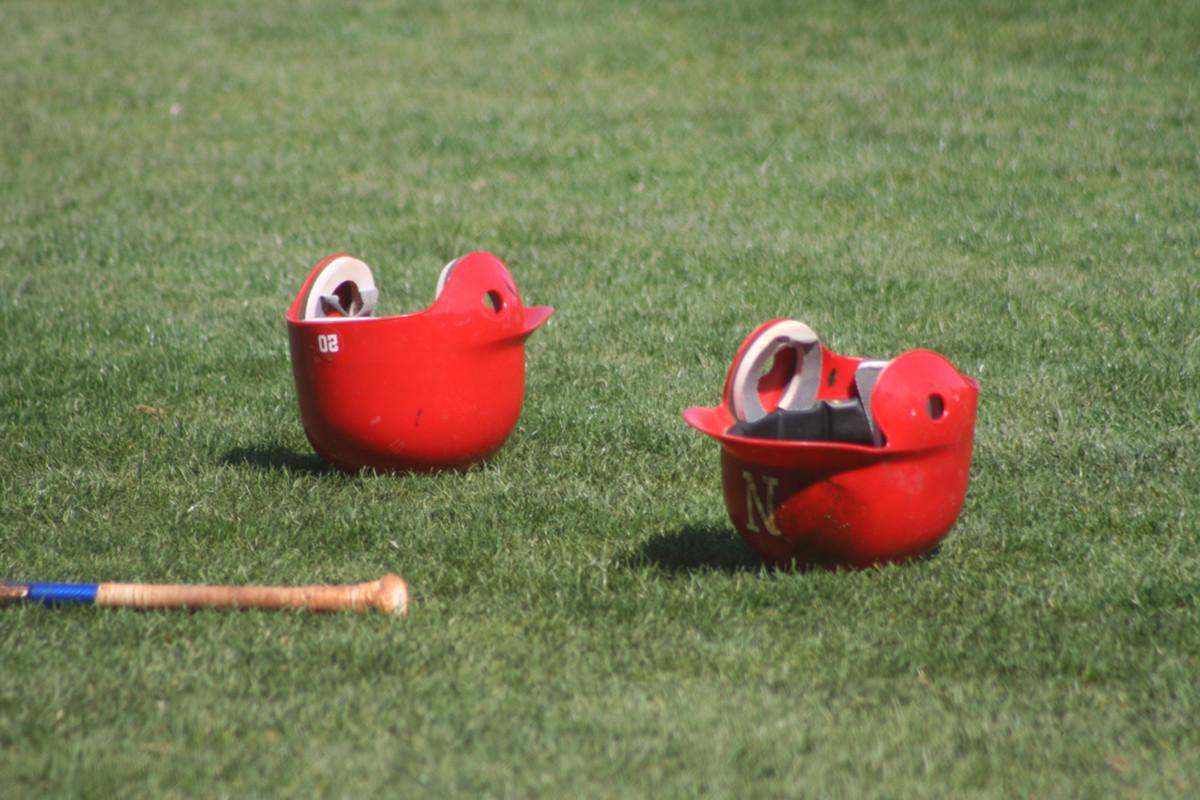 Nebraska Baseball Helmets
