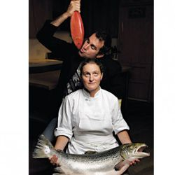 """Ken Friedman and April Bloomfield really broke some ground with this fish photo in terms of composition.  We've never seen anything like it. (<a href=""""http://newyork.grubstreet.com/daily/food/in_the_magazine/"""" rel=""""nofollow"""">photo</a>)"""