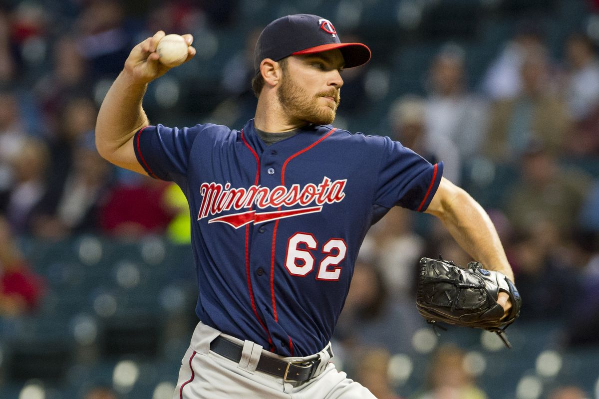 CLEVELAND, OH - SEPTEMBER 19: Starting pitcher Liam Hendriks #62 of the Minnesota Twins pitches during the second inning against the Cleveland Indians at Progressive Field on September 19, 2012 in Cleveland, Ohio. (Photo by Jason Miller/Getty Images)