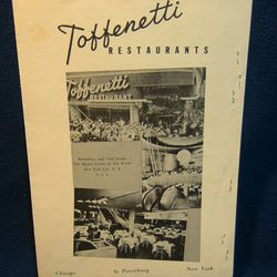 """1961 menu cover via <a href=""""http://www.historybound.net/catalog/index.php?main_page=product_info&products_id=61065"""">History Bound</a>."""