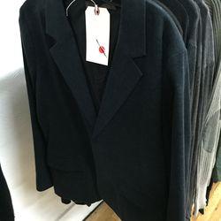 Men's sample blazer, $179