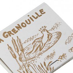 """<b>La Grenouille</b>: An old-school matchbook from one of <a href=""""http://ny.eater.com/tags/la-grenouille"""" rel=""""nofollow"""">New York's most beloved </a>French restaurants, opened in 1962. [<a href=""""http://online.wsj.com/article/SB100014240527487035554045761"""
