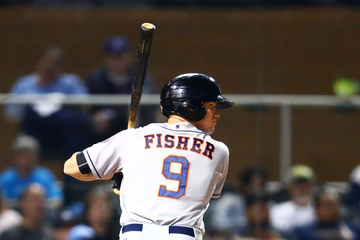 Derek Fisher cracked his first home run with the Fresno Grizzlies.