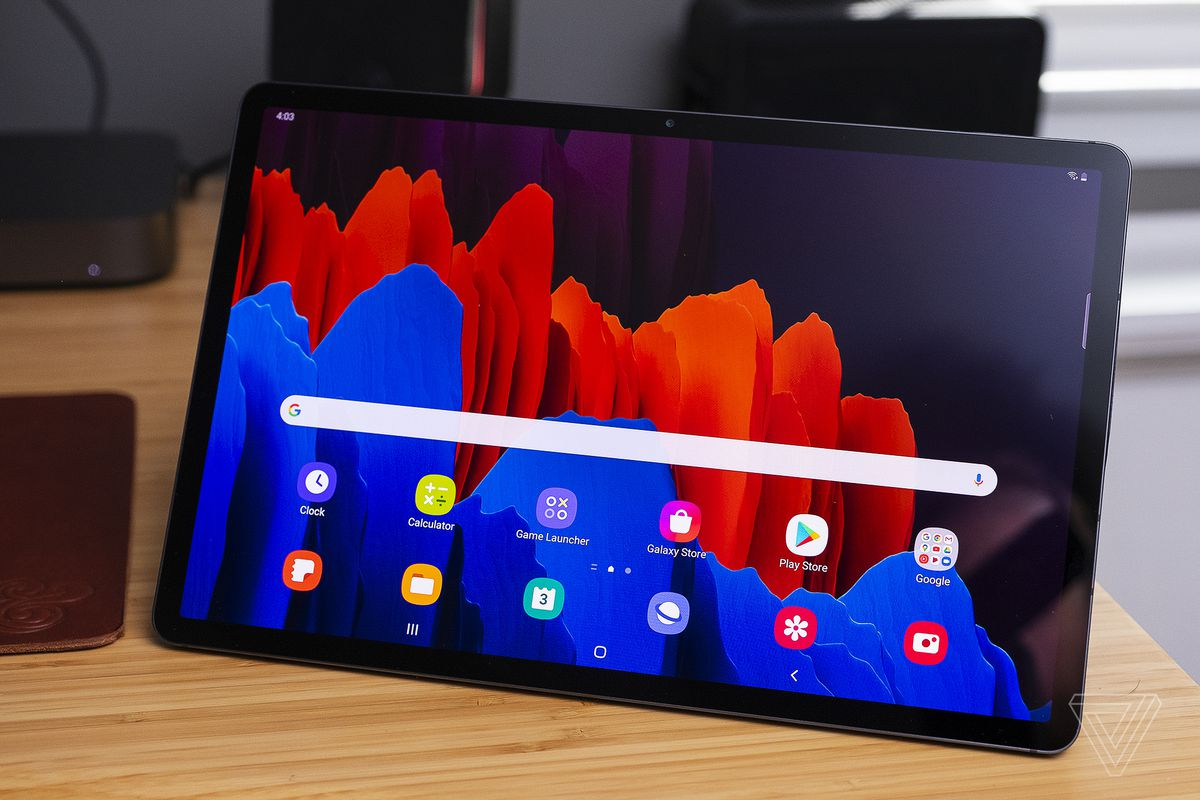 Samsung Galaxy Tab S7 Plus Hands On Killer Screen Great Sound Messy Dex The Verge