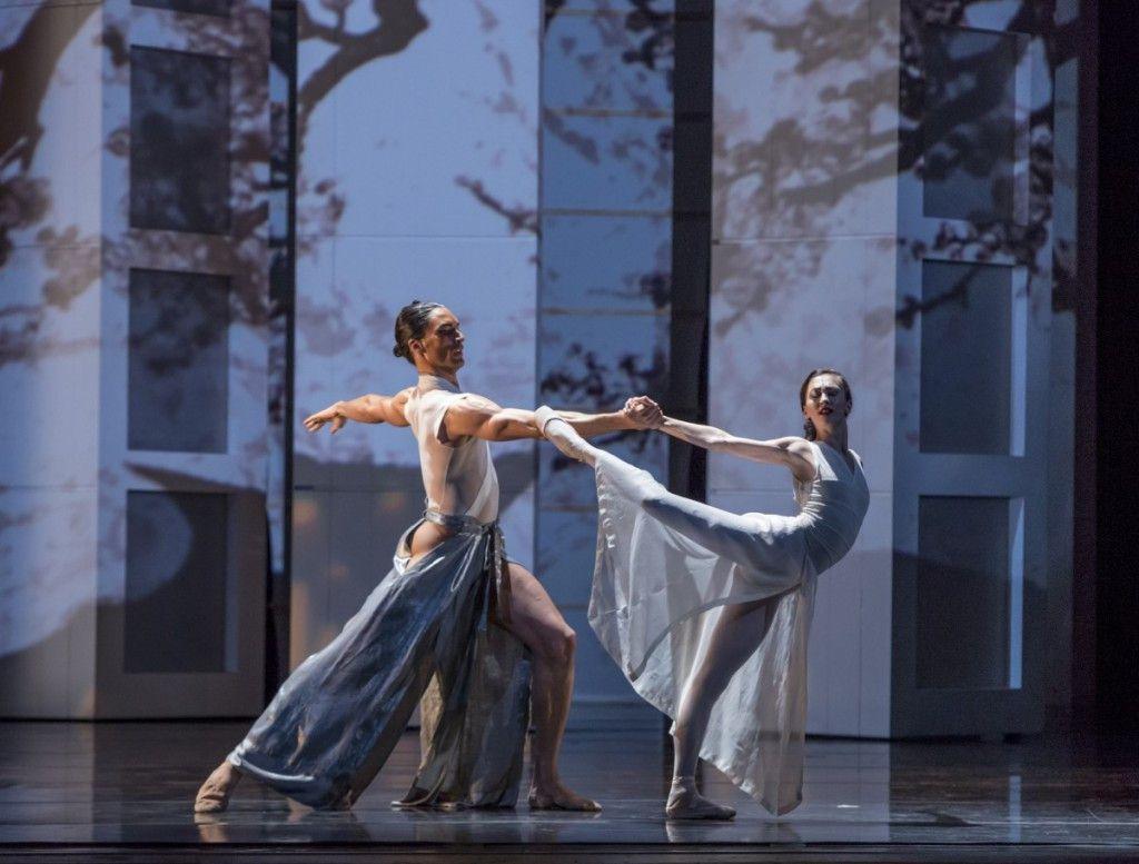 "The Joffrey Ballet's Fabrice Calmels and Victoria Jaiani, seen here in ""RAkU."" (Photo: Cheryl Mann)"