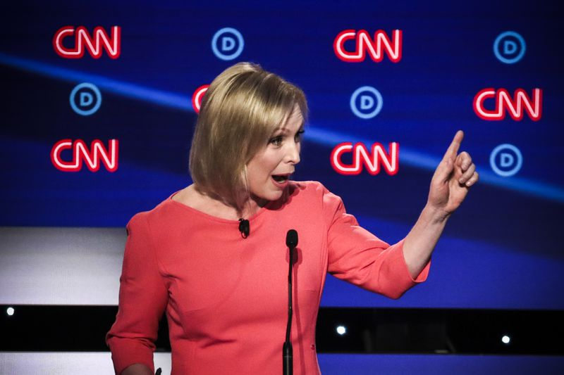 Democratic presidential candidate Sen. Kirsten Gillibrand (D-NY) speaks during the Democratic Presidential Debate at the Fox Theatre July 31, 2019.