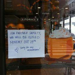 "Closed Starbucks, Philadelphia. [Photo: <a href=""https://twitter.com/JamesHallinan/status/262932317268475904"">@JamesHallinan/Twitter</a>]"