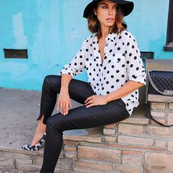 """Annabelle of <a href=""""http://vivaluxury.blogspot.com""""target=""""_blank""""> Viva Luxury</a> is wearing Paul Andrew heels, an <a href=""""http://www.equipmentfr.com/shop/shirts/slim-signature-bright-white-black""""target=""""_blank"""">Equipment</a> shirt, <a href=""""http://"""