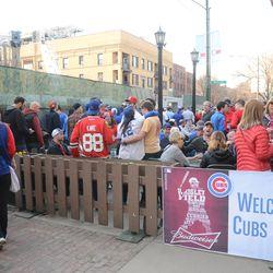 5:23 p.m. Crowd at Murphy's -