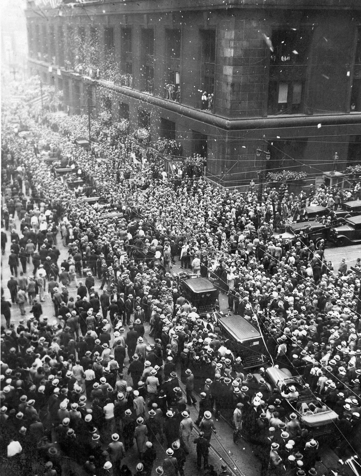 The Cubs celebrate their 1932 pennant. (GettyImages)