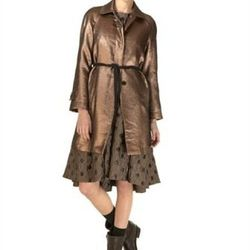 """<strong>Marc by Marc Jacobs</strong> Verushka Lame Coat, <a href=""""http://www.marcjacobs.com/marc-by-marc-jacobs/womens/m1122504/verushka-lame-coat#"""" target=""""new"""">$598</a>"""