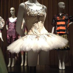 A costume from the original production of the George Balanchine-choreographed <em>Jewels</em>, 1967