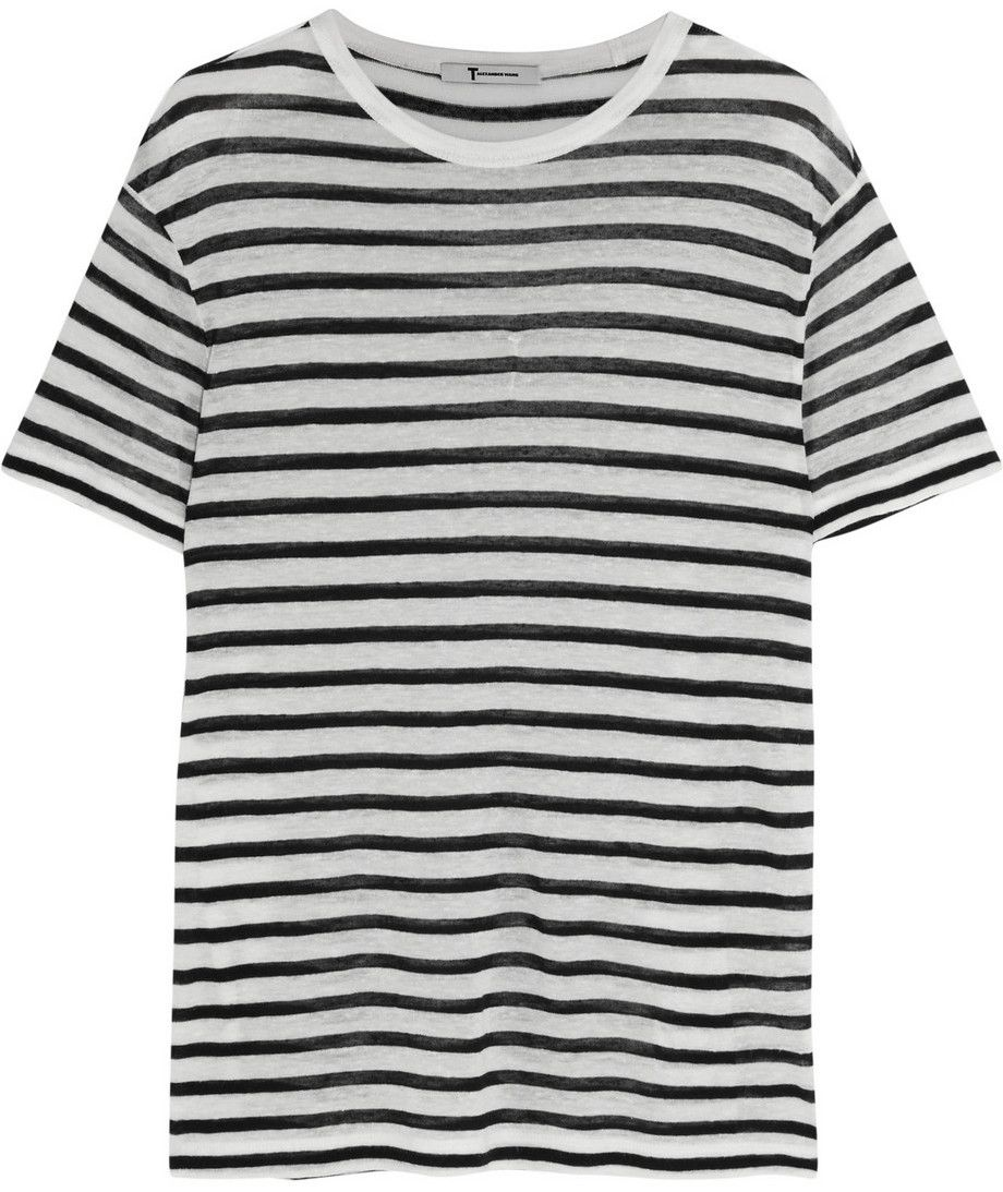 T shirt white black - Striped T Shirt 110