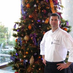 At 2941, the Chef Bertrand Chemel-helmed restaurant in Falls Church, a Christmas tree decorated in bold shades of purple and gold is front and center as you enter the restaurant.