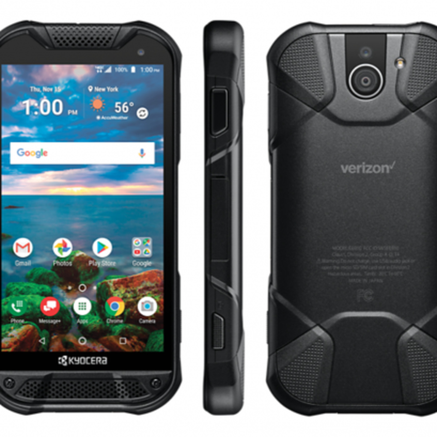 huge selection of 7ea6b b4dcc Kyocera's new rugged phone has a sapphire screen and a fingerprint ...