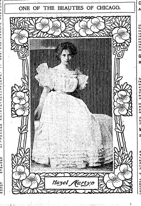 The then-Hazel Martyn when she debuted into society.