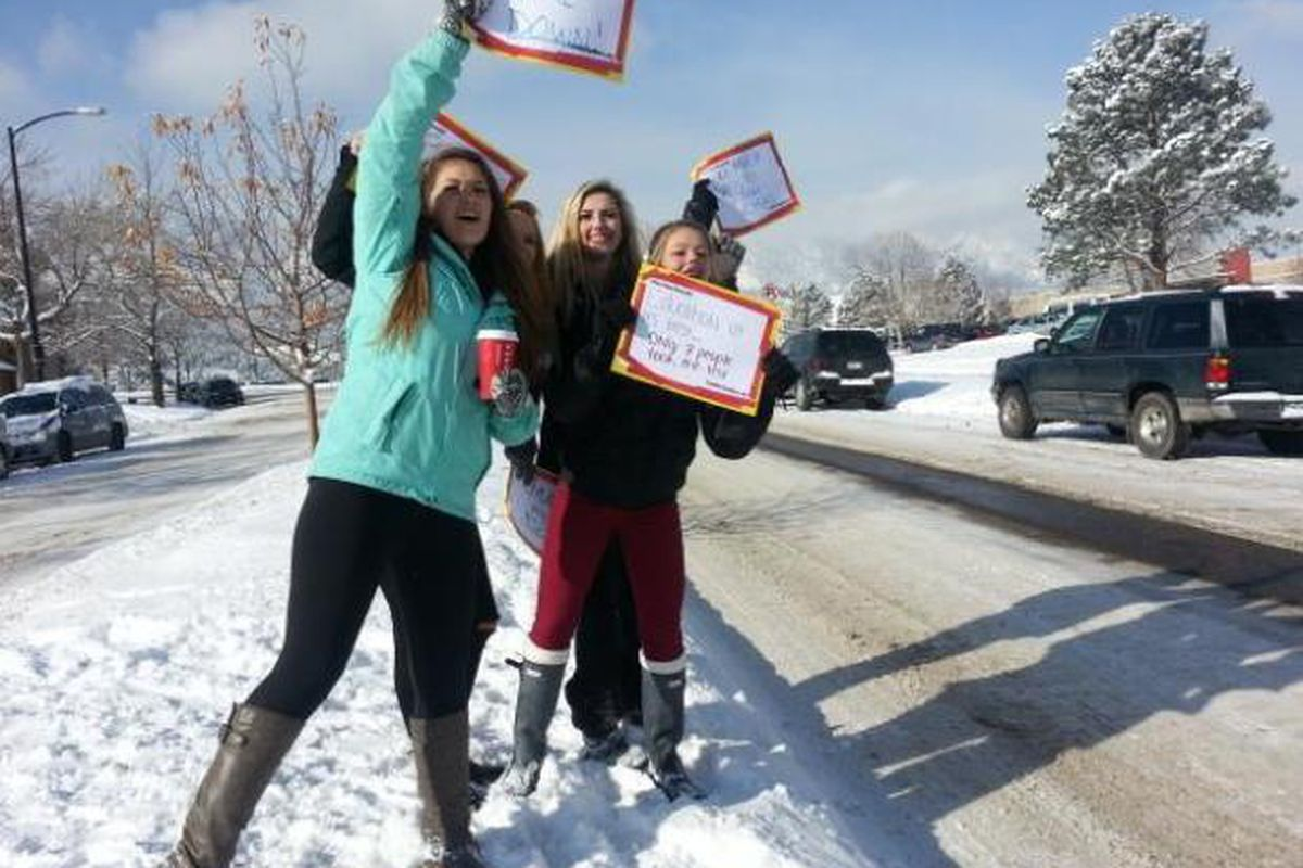 Students at Fairview High School in Boulder protested state tests in 2014.  (Denver Post file photo)