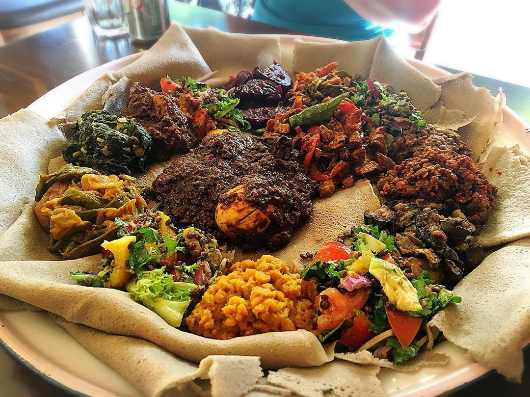Injera at The Genet Cafe, one of the best value restaurants in north London