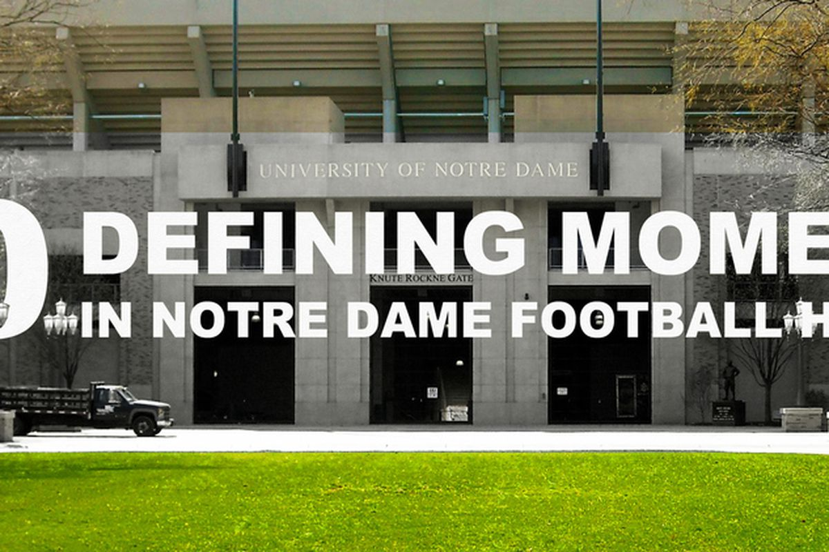 30 Defining Moments in Notre Dame Football History, 1987-2011: O ...