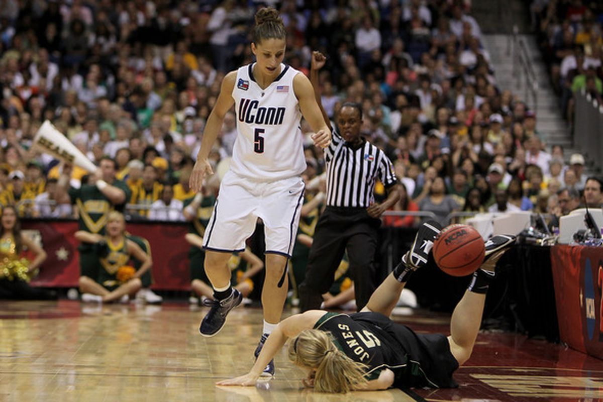 UConn misses the edge that Caroline Doty brings to the game.  (Photo by Jeff Gross/Getty Images)